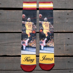 Stance x NBA Men King James Socks (yellow)