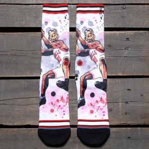 Stance x NBA Men The Worm Socks (red)