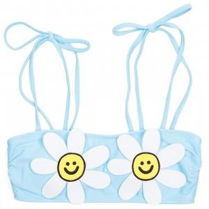 Lazy Oaf Women Daisy Bikini Top (blue)