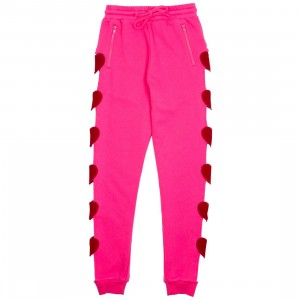 Lazy Oaf Women Heart Breaker Sweatpants (pink)