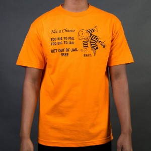 BAIT x Hasbro Monopoly Men No Chance Tee (orange)