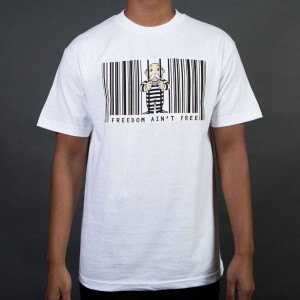BAIT x Hasbro Monopoly Men Freedom Ain't Free Tee (white)