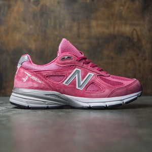 New Balance Men Pink Ribbon 990v4 M990KM4 - Made In USA (pink / komen pink / silver)