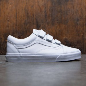 Vans Men Old Skool V - Mono Leather (white / true white)