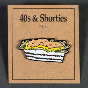 40s and Shorties Carnivore Fries Pin (white / yellow)