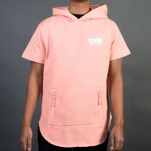 Billionaire Boys Club Men Breakers Short Sleeve Hoody (pink / coral almond)