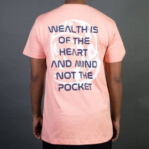 Billionaire Boys Club Men BB Wealth Tee (pink / coral almond)