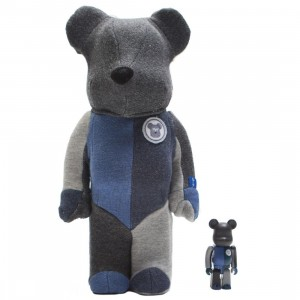 Medicom Loopwheeler 100% 400% Bearbrick Set (gray / blue)