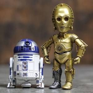 Herocross Hybrid Metal Figuration #024 Star Wars R2-D2 And C-3PO Diecast Figure Set (blue / gold)
