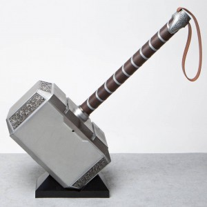 Hasbro Marvel Legends Series Thor Mjolnir Replica Electronic Hammer (silver)