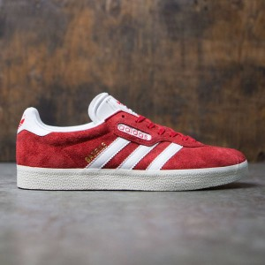 Adidas Men Gazelle Super (red / vintage white / gold metallic)
