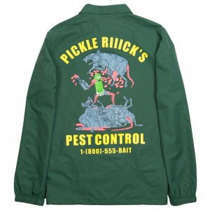 BAIT x Rick And Morty Men Pickle Rick Coaches Jacket (green / forest)