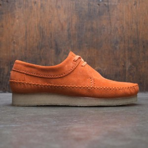 Clarks Men Weaver Suede (orange / spice)