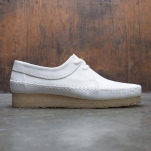 Clarks Men Weaver Suede (white / suede)