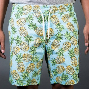 Barney Cools Men Amphibious Shorts (blue / green / pineapple)