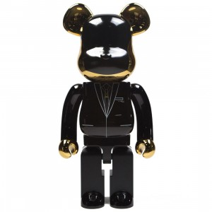 Medicom Daft Punk R.A.M. ver. Guy-Manuel de Homem-Christo 1000% Bearbrick Figure (gold)