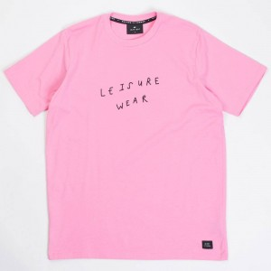 Lazy Oaf Men Leisure Wear Tee (pink)