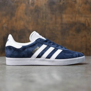 Adidas Men Gazelle (navy / collegiate navy / white / gold metallic)