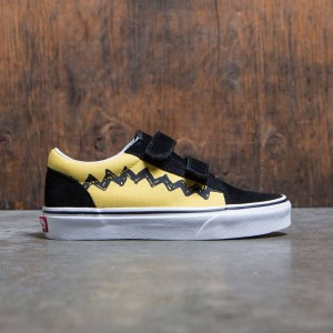 Vans x Peanuts Big Kids Old Skool V - Charlie Brown (yellow / black)