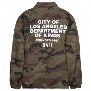 BAIT Men Department Coach Jacket (camo)