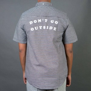 Lazy Oaf Men Don't Go Outside Shirt (black)