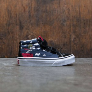 Vans x Peanuts Big Kids Sk8-Mid Reissue V - Flying Ace (black)