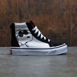 Vans x Peanuts Big Kids Sk8-Hi Zip - Joe Cool (black)