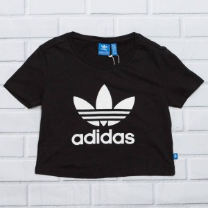 Adidas Women Slim Crop Tee (black)