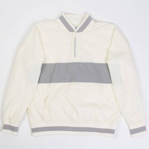 Undefeated Men Nylon Pullover Jacket (white)