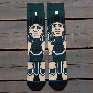 Stance x NCAA Men Sparty Socks (green)