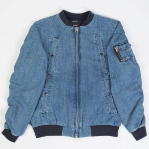 10 Deep Men Wrangler Aviator Denim Jacket (blue / stone wash)