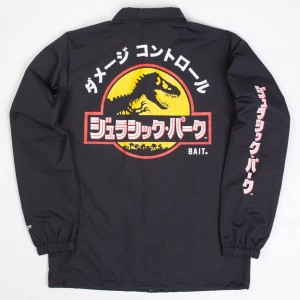 BAIT x Jurassic Park Men Damage Control Coaches Jacket (black)