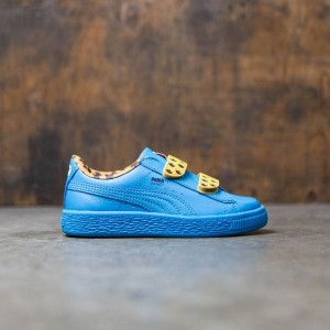 Puma x Sesame Street Little Kids Basket Mono V - Cookie Monster (blue)