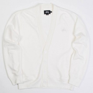 Stussy Women Bloom Cardigan Jacket (white / off white)