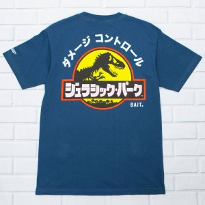 BAIT x Jurassic Park Men Damage Control Tee (blue / harbor)