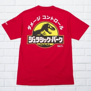 BAIT x Jurassic Park Men Damage Control Tee (red / cardinal)