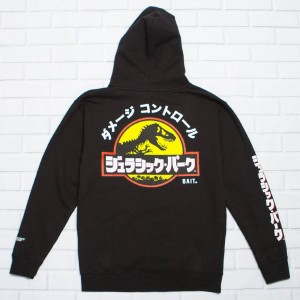 BAIT x Jurassic Park Men Damage Control Hoody (black)