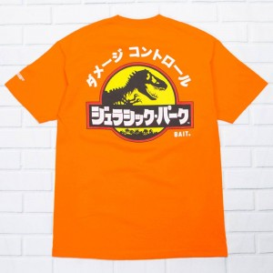 BAIT x Jurassic Park Men Damage Control Tee (orange)