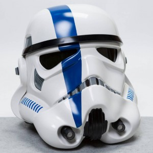 ANOVOS Star Wars EP IV A New Hope Imperial Stormtrooper TK Commander Helmet (blue)