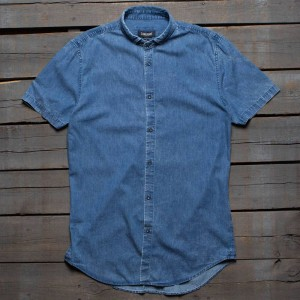 Zanerobe Men Tuck SS Shirt (blue / mid denim)
