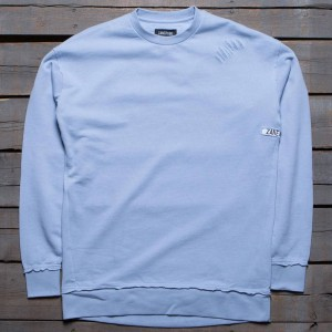 Zanerobe Men Rugger Crew Sweater (blue / chalk)