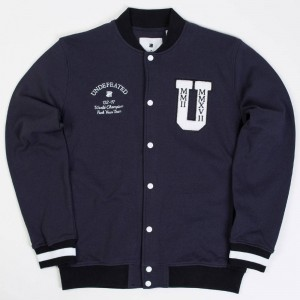 Undefeated Men Fleece Varsity Jacket (navy)