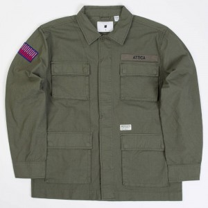 Undefeated Men Attica Jungle Long Sleeve Shirt (green / olive)