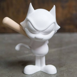 BAIT x Dreamworks x SWITCH Collectibles Felix the Cat Slugger 6 Inch Figure - Porcelain White (white)