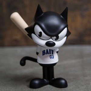 BAIT x Dreamworks x SWITCH Collectibles Felix the Cat Slugger 6 Inch Figure - Melrose Exclusive (black / white)