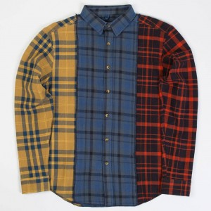 10 Deep Men Refurbished Button Down Shirt (multi / red)