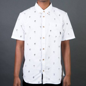 Vans x Peanuts Men Houser Short Sleeve Shirt (white)