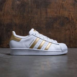 Adidas Big Kids Superstar (white / metallic gold / blue)