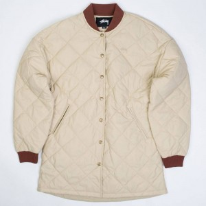 Stussy Women Barriers Quilted Jacket (beige / taupe)