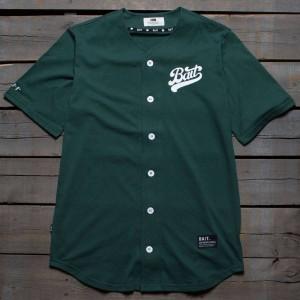 BAIT Men Script Logo Baseball Jersey Shirt (green)